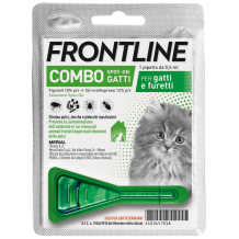 Frontline Combo - Kit Gattino & Furetto 1 Pipetta da 0,50 ml