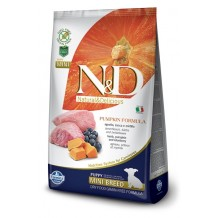 N&D - Grain Free Pumpkin Puppy Mini all'Agnello, Zucca e Mirtilli da 2.5 Kg