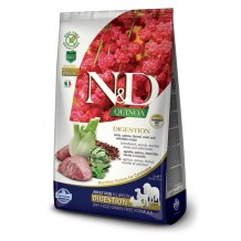 N&D - Grain Free Quinoa Adult Digestion all'Agnello, Quinoa, Finocchio, Menta e Carciofo da 7 Kg