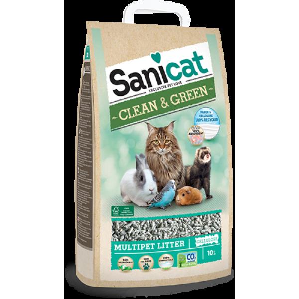 Sanicat Lettiera Ecologica Clean Green In Cellulosa 20l