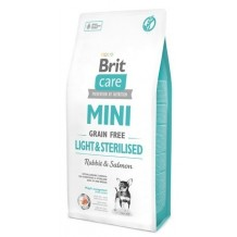 Brit Care - Mini Light & Sterilised Grain Free al Coniglio e Salmone da 7 Kg