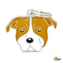 My Family - Medaglietta Cane American Staffordshire Terrier Varie Colorazioni