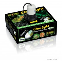 Exo Terra - Glow Light Small  -  Lampada Porcellana con Pinza Metallica + Riflettore Fosforescente